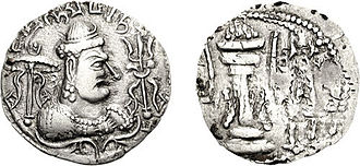 Gwalior - Coin of the Alchon Huns king Mihirakula, who ruled in Gwalior circa 520 AD.
