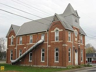 Milan, Indiana - Milan's historic Masonic lodge building