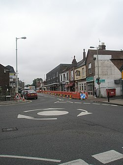Mini-roundabout in Havant town centre - geograph.org.uk - 1394849.jpg