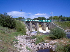 Minnedosa, Manitoba - Minnedosa Dam on the Little Saskatchewan River