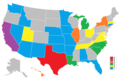 Miss USA Winners rank map.png