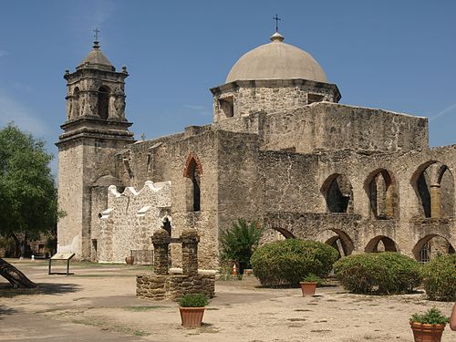 Mission San José y San Miguel de Aguayo, a historic Catholic mission in San Antonio, Texas, United States.