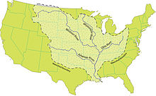 Mississippi River Wikipedia - Map of us east of mississippi river