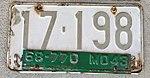Missouri 1943 license plate tab on 1942 base plate.jpg