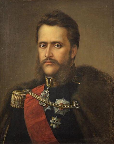 Portretul lui Alexandru Ioan Cuza, Ulei pe pânză, 59,5 x 48,5 cm, Nesemnat, Nedatat, Nr. inv. 72, Muzeul de Artă din Brașov