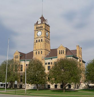 Mitchell County, Kansas - Image: Mitchell County, Kansas courthouse from SW 1