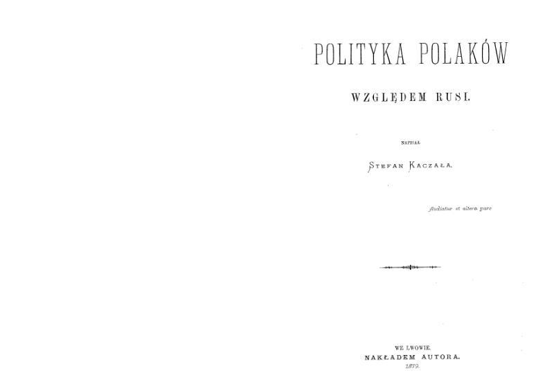 File:Mnib007-Kaczala-PolitykaPolakowWzgledemRusi.djvu