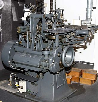 History of Western typography - Monotype machine
