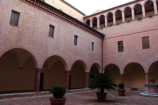 Monte Oliveto Maggiore, chiostro di mezzo