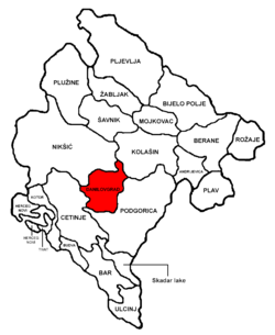 Danilovgrad Municipality in مونٹینیگرو