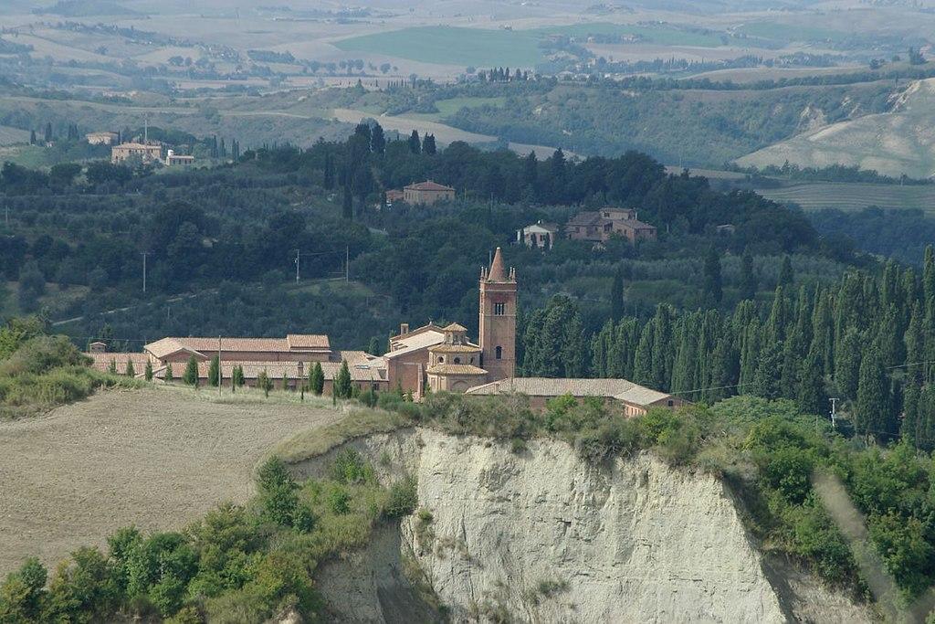 Die Abtei Monte Oliveto Maggiore in der Toskane