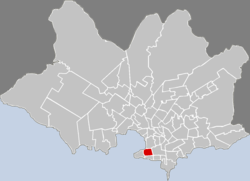 Location of Centro in Montevideo
