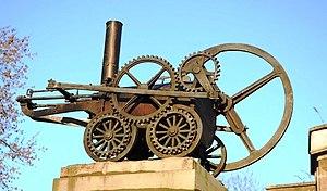 English: Monument to Richard Trevithick Replic...
