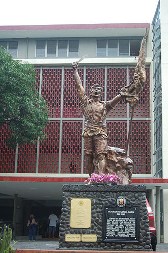 Philippine Revolution - Monument for the 1896 Revolution in University of the Philippines Diliman.