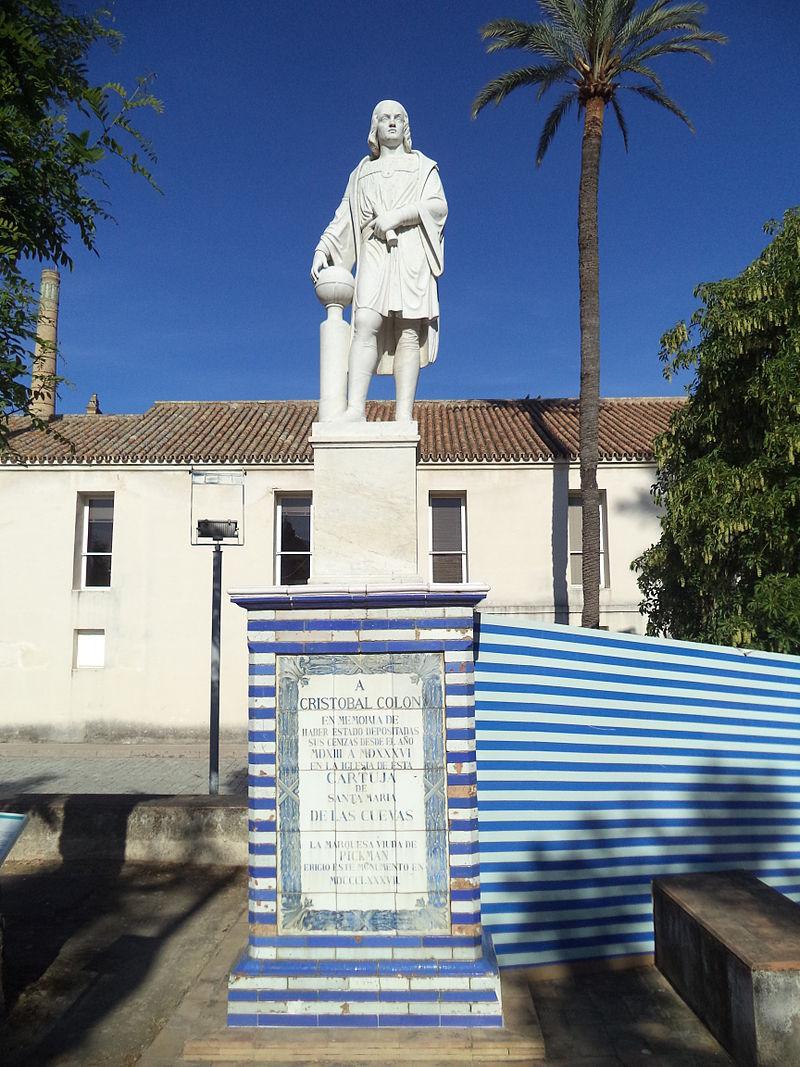 Monumento a Colón en La Cartuja.JPG
