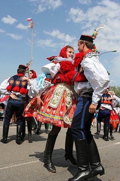 Moravian Slovak Costumes during Jizda Kralu