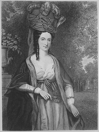 Robert Morris (financier) - Mary Morris, Robert Morris's wife portrait by Charles Wilson Peale
