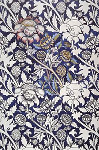 William Morris Printed Textile Design 1883