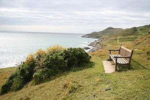 English: Morte Point viewpoint Lovely views fr...