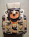 Mosaic figure (burial offering), Peru, Huari culture, 600-900 AD, wood, bitumen, various shells, bone, hammered silver, jadeite - De Young Museum - DSC00314.JPG