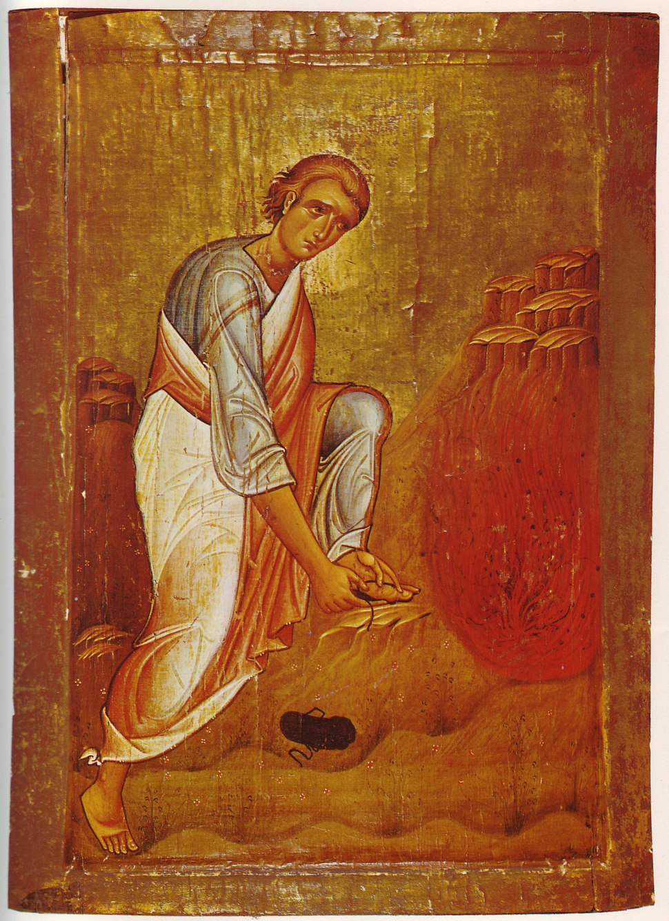 Moses & Bush Icon Sinai c12th century