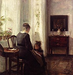 Mother and Child by a window