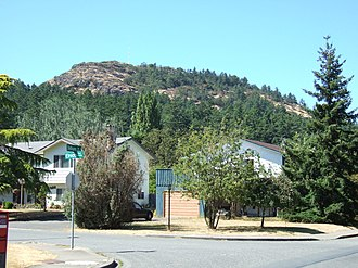 Mount Douglas, Greater Victoria - The south side of Mount Douglas.