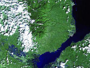Satellitenfoto auf den Mount Malindang