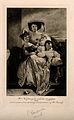 Mrs Nightingale with her daughters, Florence and Parthenope. Wellcome V0006733.jpg