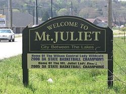 Mount Juliet, Tennessee.