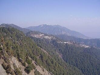 Mukeshpuri - Mukeshpuri mountain and the Nathiagali Hills, in Ayubia National Park.