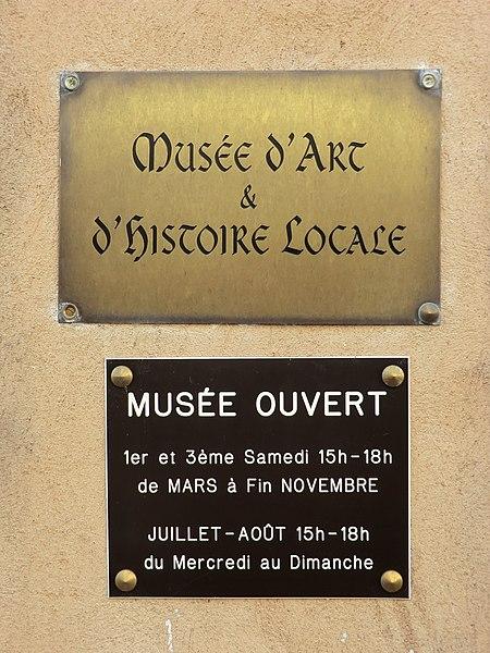 Musée d'Art et d'Histoire locale de Montluel (Ain).