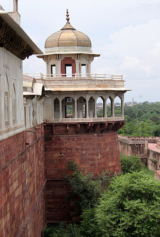 Jharokha Darshan - Shah Burj, the Royal Tower in Agra.