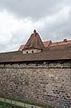Nürnberg, Stadtmauer, Mauerturm Schwarzes F, Feldseite, 002.jpg