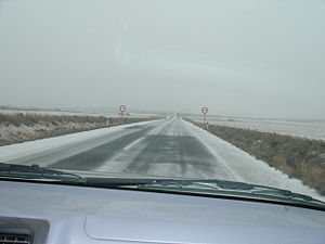 N-230 road (Spain) - The Road N-230 in Purroy de la Solana (Huesca)