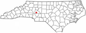 China Grove, North Carolina - Image: NC Map doton China Grove