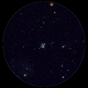 NGC 3293 al telescopio 114mm