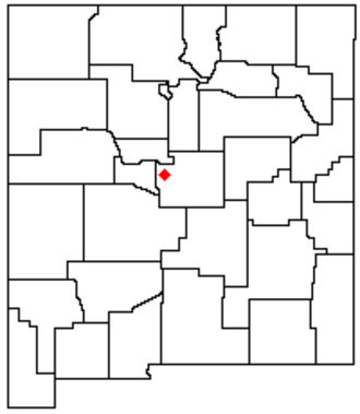 Manzano Mountains - Location of the Manzano Mountains within New Mexico