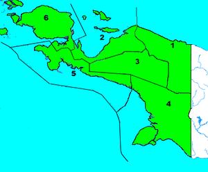 Netherlands New Guinea - Afdelingen of Papua