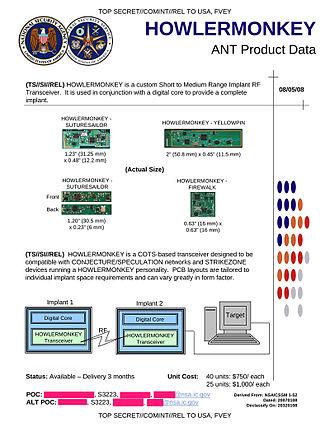 NSA ANT catalog - HOWLERMONKEY