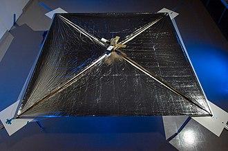 LightSail - NASA's NanoSail-D with sail deployed.
