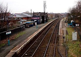Nantwich railway station Railway station in Cheshire, England