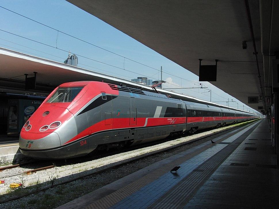 Naples, Central station, gorgeous long-distance train