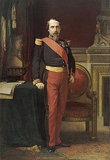 Portrait of Napoleon III painting by Jean-Hippolyte Flandrin