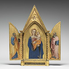 Madonna and Child, with Saints Peter and John the Evangelist, and Man of Sorrows [entire triptych]