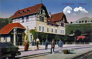 Višegrad - Višegrad railway station in 1906