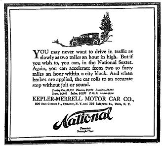 National Motor Vehicle Company - A 1920 National Automobile Advertisement - The Syracuse Herald, July 18, 1910