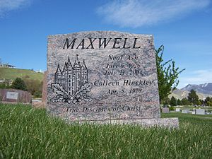 Neal A. Maxwell - Image: Neal A Maxwell Grave