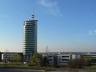 Neckarsulm TDS Office Tower - Neckarsulm TDS Office Tower in Neckarsulm with Antenna