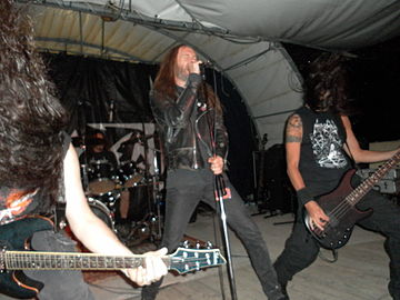 Necrodeath at Korxefest, Genoa, Italy, 2010 Necrodeath 6.JPG